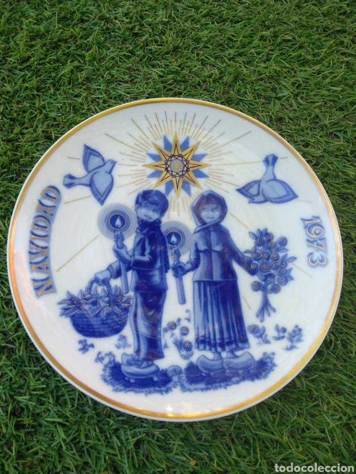 NAVIDAD 1973. SANTA CLARA (Vintage - Decoración - Porcelanas y Cerámicas)