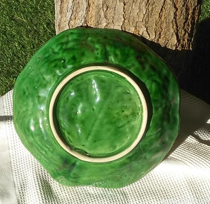 Vintage: Pareja platos Bordallo Pinheiro. Col verde vena - Foto 3 - 214784060
