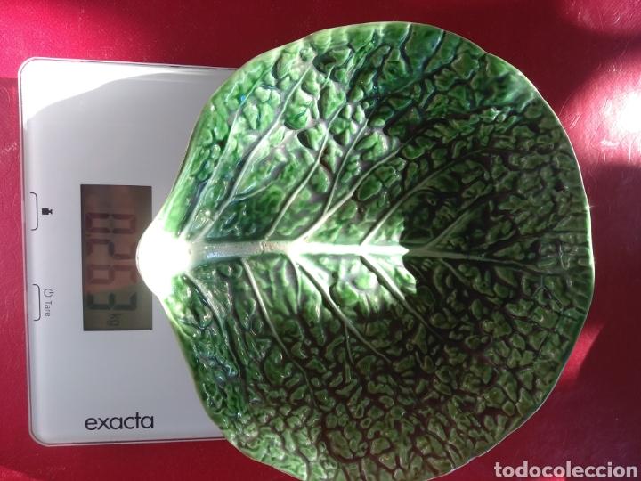 Vintage: Pareja platos Bordallo Pinheiro. Col verde vena - Foto 5 - 214784060