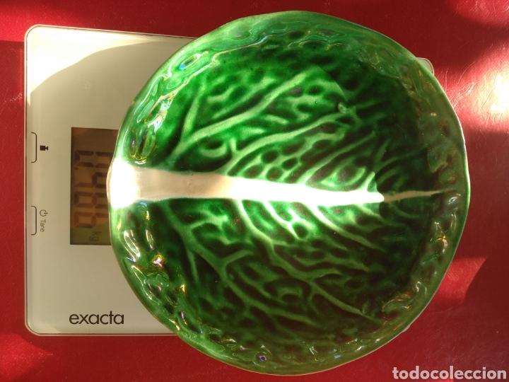 Vintage: Pareja platos Bordallo Pinheiro. Col verde vena - Foto 6 - 214784060