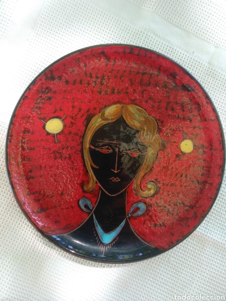 EXCEPCIONAL PIEZA CARBET. NUMERADO. (Vintage - Decoración - Porcelanas y Cerámicas)
