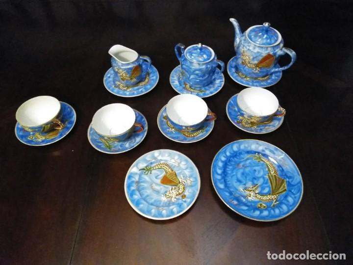 Vintage: ANTIGUO JUEGO DE TE / CAFE JAPONES [ 16 PIEZAS INTACTAS ] - Foto 3 - 215303008