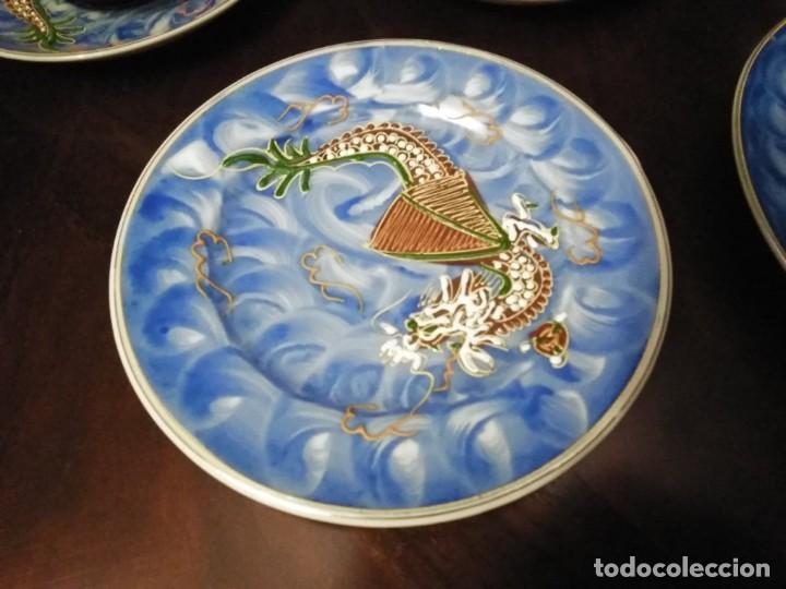 Vintage: ANTIGUO JUEGO DE TE / CAFE JAPONES [ 16 PIEZAS INTACTAS ] - Foto 9 - 215303008