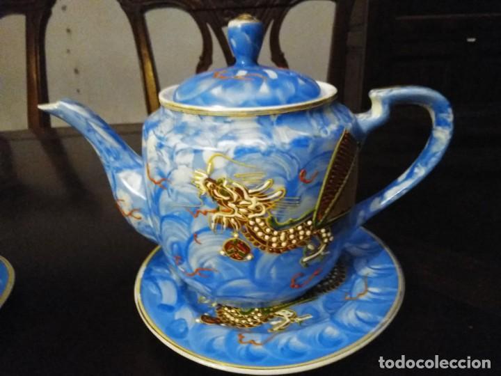 Vintage: ANTIGUO JUEGO DE TE / CAFE JAPONES [ 16 PIEZAS INTACTAS ] - Foto 8 - 215303008