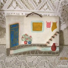 Vintage: ANTIGUO CUADRO DE CERAMICA PARA COLGAR. Lote 215399521