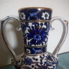 Vintage: PRECIOSO JARRON DE PORCELANA RHODLI GREECE,BLANCO COBALTO Y ORO.. Lote 215842047