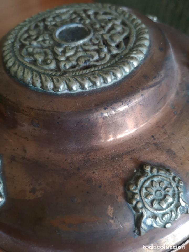 Vintage: Jarrones cobre con bronce y latón figuras de dragones - Foto 8 - 216018450