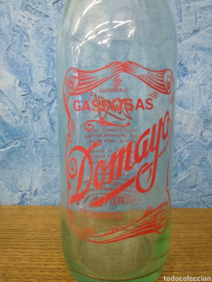 BOTELLA GASEOSA (Vintage - Decoración - Cristal y Vidrio)