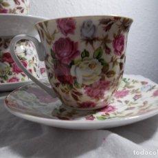 Vintage: YASHUNDA LOTE DE 5 TAZAS CON SU PLATITO TÉ CAFÉ. Lote 216920830