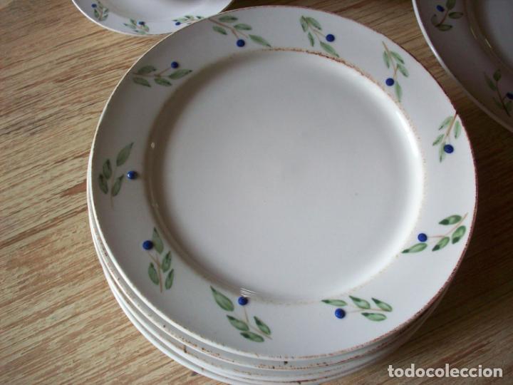 Vintage: JUEGO DE MERIENDA PINTADO A MANO - SEIS SERVICIOS - 22 PIEZAS - Foto 8 - 218196442