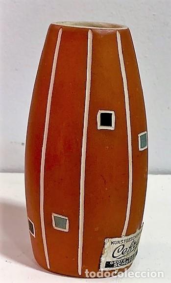 JARRÓN DE CERÁMICA DE LOS AÑOS 50 PROCEDENCIA ALEMANA. 12 CM H. (Vintage - Decoración - Porcelanas y Cerámicas)