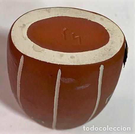 Vintage: Jarrón de cerámica de los años 50 procedencia alemana. 12 cm H. - Foto 5 - 218826083