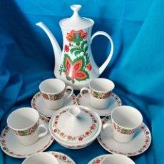 Vintage: JUEGO DE CAFÉ PORCELANA VINTAGE. Lote 218839240