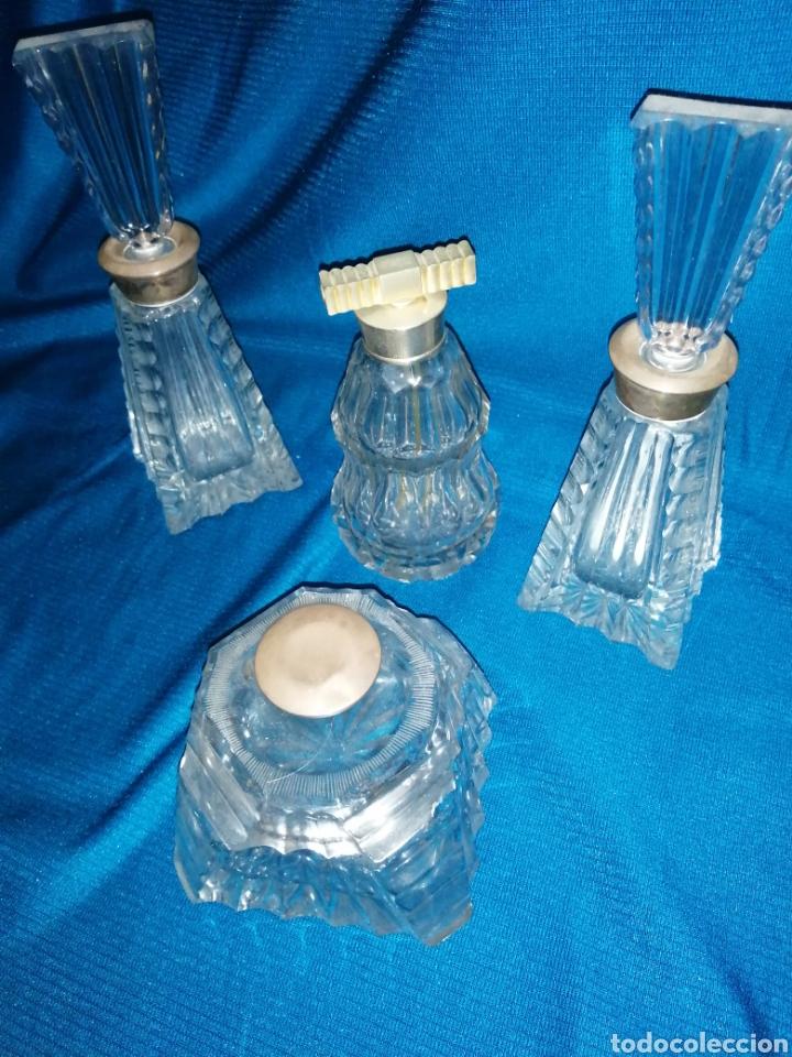 JUEGO DE TOCADOR CRISTAL VINTAGE (Vintage - Decoración - Cristal y Vidrio)