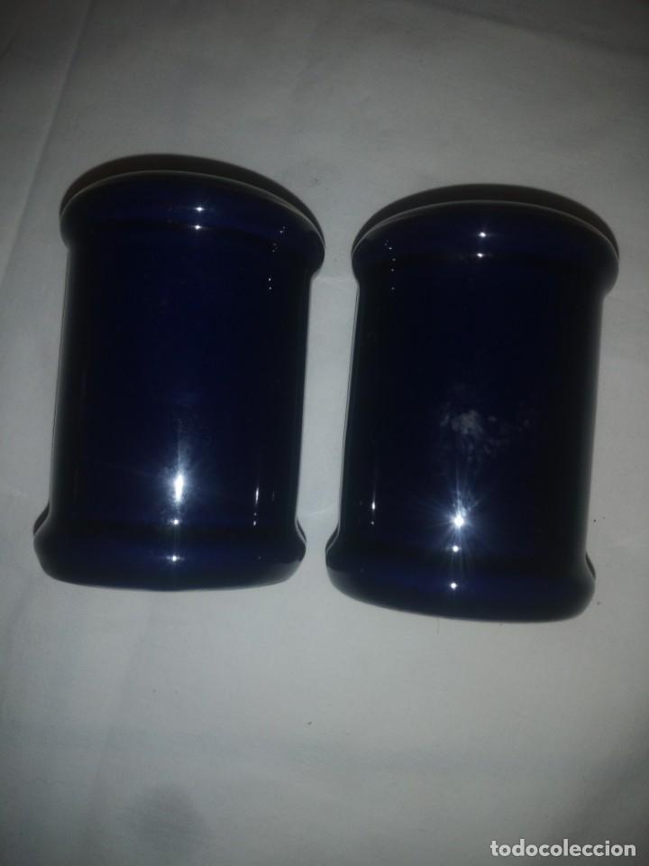 Vintage: salero y pimentero de porcelana azul cobalto,the emerald forest collection premier housewares,93/94 - Foto 2 - 218858008