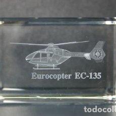 Vintage: EUROCOPTER EC-135 CRISTAL GRABADO EN 3 DIMENSIONES. Lote 218892811