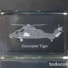 Vintage: EUROCOPTER TIGRE CRISTAL GRABADO EN 3 DIMENSIONES. Lote 218892867