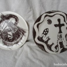 Vintage: LOTE 2 PRECIOSOS PLATOS AÑO GAUDI 2002 DIFERENTES DISEÑOS. Lote 220760501