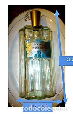 BOTELLA CRISTAL PERFUME EAU DE COLOGNE ROBE DE FETE DORIM PARIS. (Vintage - Decoración - Cristal y Vidrio)