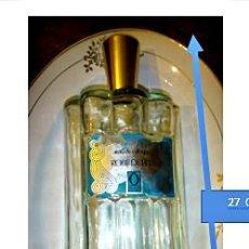 Vintage: BOTELLA CRISTAL PERFUME EAU DE COLOGNE ROBE DE FETE DORIM PARIS.. Lote 221935833