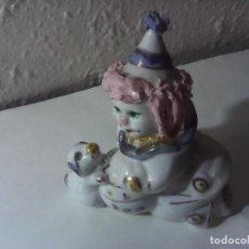 Vintage: FIGURA PAYASO PORCELANA. Lote 221940945