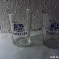 Vintage: LOTE DE 2 VASOS PROMOCIONALES LECHE GURELESA. Lote 221955753