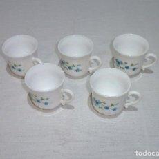 Vintage: 5 TAZAS DE CAFE ARCOPAL.. Lote 222086677