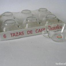 Vintage: SEIS TAZAS DE CAFÉ TRANSPARENTE DURALEX VICASA SPAIN AÑOS 60 PRECINTADO. Lote 222097461