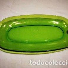 Vintage: DURALEX VERDE - FUENTE OVALADA - NUEVA CON ETIQUETA. Lote 222134495