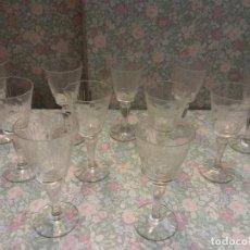 Vintage: LOTE DE 11 COPAS. MEDIDAS ALTO 12 CM, DIÁMETRO 5 CM. MUY VINTAGE.. Lote 222644606