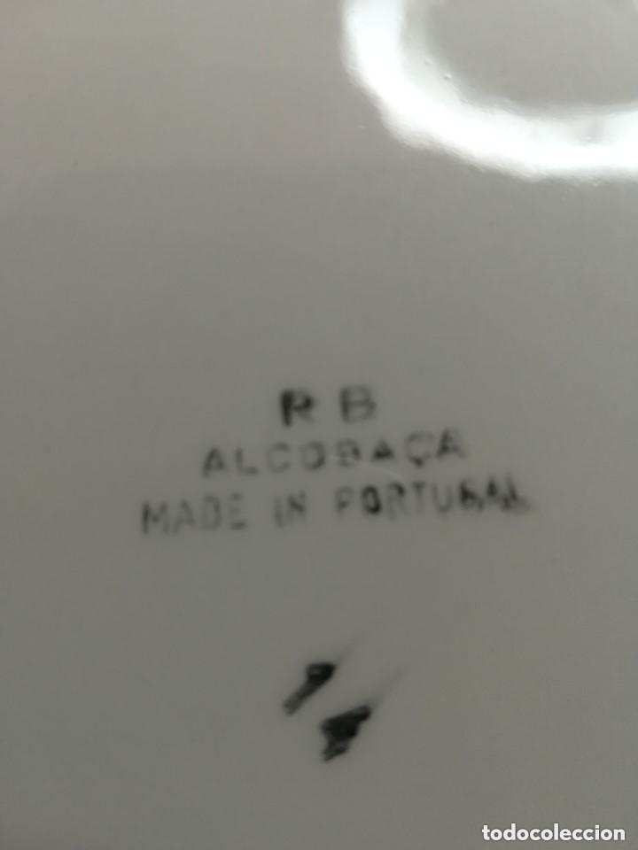 """Vintage: PLATO BANDEJA. CUADRADO CERÁMICA PORTUGUESA. GRAN TAMAÑO Y SELLADO EN LA BASE """"P B ALCOBAÇA"""". 14 - Foto 2 - 222854066"""