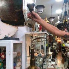 Vintage: EXCELENTE LAMPARA CON TULIPA CRISTAL MURANO MAZZEGA - AÑOS 60 - MEDIDA TOTAL 95 Y TULIPA 25X28 CM. Lote 223318341