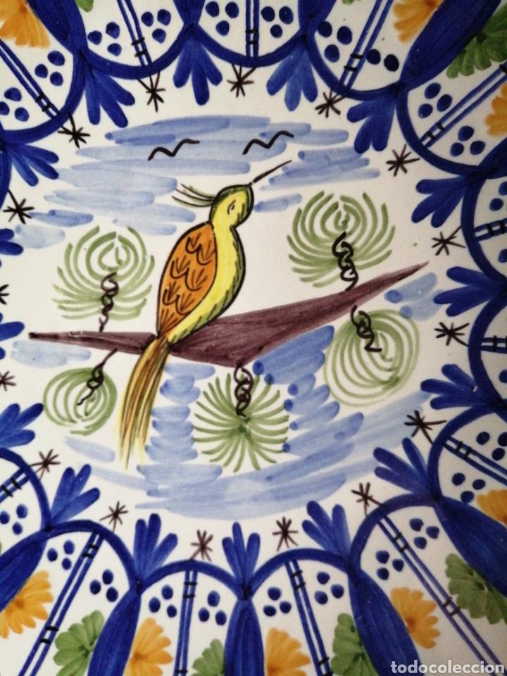 Vintage: Plato en porcelana para colgar Manises - Foto 2 - 223475205