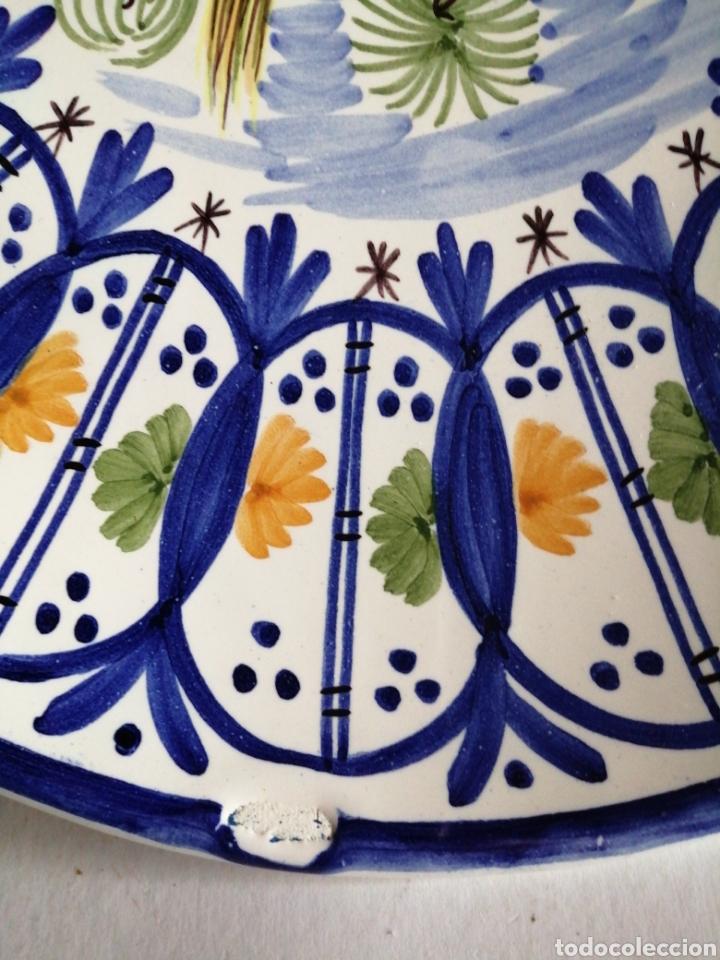 Vintage: Plato en porcelana para colgar Manises - Foto 3 - 223475205