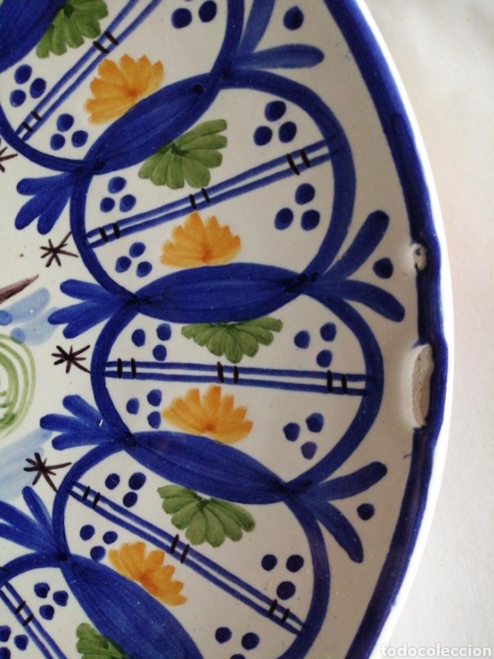 Vintage: Plato en porcelana para colgar Manises - Foto 4 - 223475205