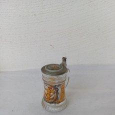 Vintage: PRECIOSA JARRA DE CRISTAL MARCA (SCHNAPSKRUGER) TAPA DE ESTAÑO. Lote 224027528