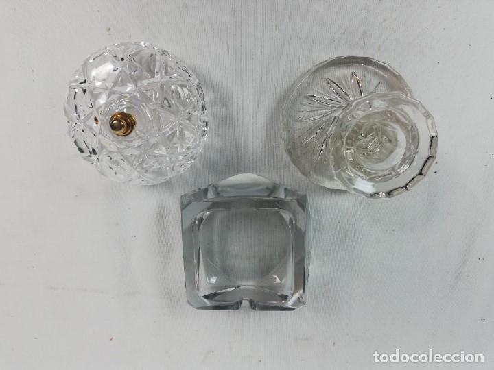 LOTE VARIADO DE CRISTAL -CENICERO-JOYERO-PORTAVELAS-COLECCIONISTAS (Vintage - Decoración - Cristal y Vidrio)