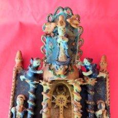 Vintage: ANTIGUA BENDITERA DE CERAMICA,ARTE COLONIAL. Lote 224352277