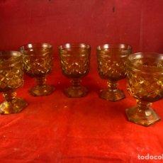 Vintage: VASOS DE CRISTAL. Lote 224418718