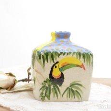 Vintage: PEQUEÑO JARRÓN DE CERÁMICA VINTAGE PINTADO A MANO POR WHILLMANN COSTA RICA. Lote 225766568