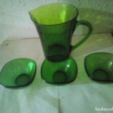 Vintage: LOTE DURALEX VERDE. Lote 225887445