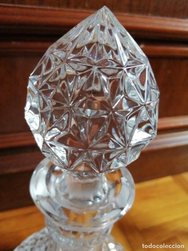 Vintage: Juego de licorera cristal de bohemia con 6 copas - Foto 5 - 225915725