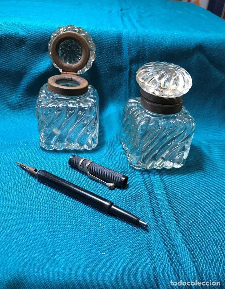 Vintage: tinteros cristal - Foto 2 - 226135170