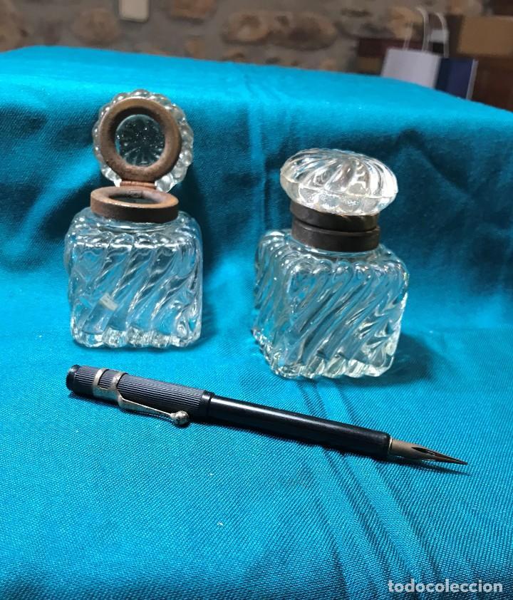 Vintage: tinteros cristal - Foto 3 - 226135170