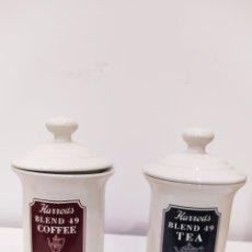 Vintage: BOTES CERAMICA HARRODS BLEND 49. CAFE Y TE.. Lote 226277928