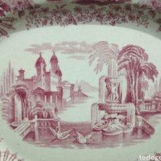 Vintage: JUEGO DE RECIPIENTE Y PLATO DE PORCELANA. Lote 228062775