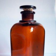 Vintage: ANTIGUO FRASCO DE FARMACIA. DE CRISTAL DE TOPACIO. Lote 245714340