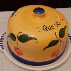 Vintage: QUESERA ANTIGUA, 33 EL PLATO 25,5 CM LA TAPADERA, PORCELANA. Lote 231241865