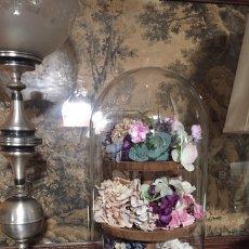 Vintage: URNA GRANDE DE CRISTAL CON FLORES. Lote 231295610