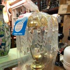 Vintage: LAMPARA DE MESA DE METAL Y CRISTAL - MEDIDA 31 CM. Lote 233070225